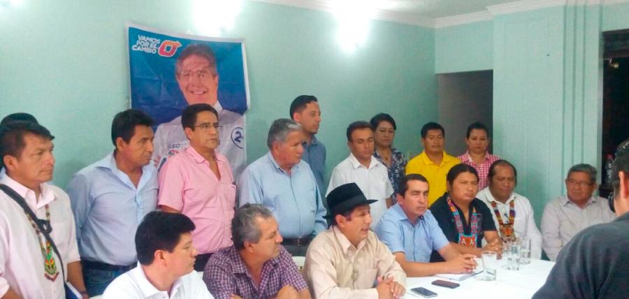 Sociedad Patriótica y Pachakutik de Zamora dan su respaldo a Lasso