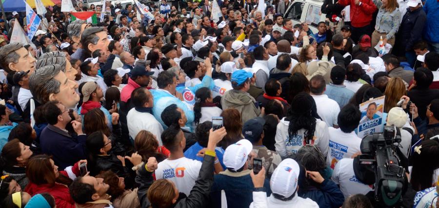 El Norte de Quito recibió a Lasso con entusiasmo