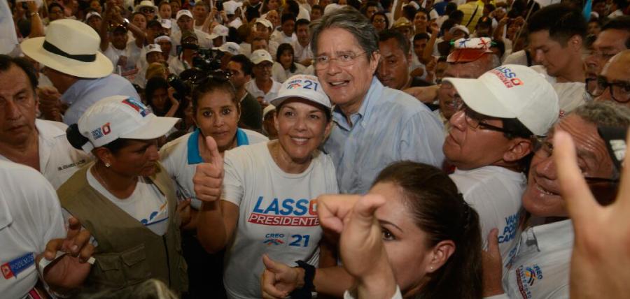 Santo Domingo recibió al próximo  presidente del Ecuador