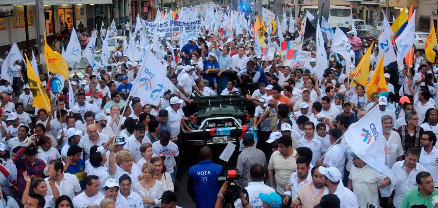 Guayaquil se volcó a las calles para reafirmar su voto por Guillermo Lasso