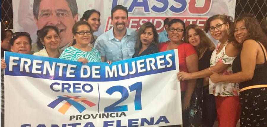 En Santa Elena la Directiva de Mujeres CREO se une al trabajo nacional.