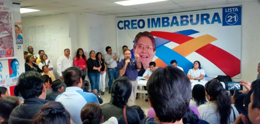Gira Nacional de CREO llega a Con un encuentro que reunió a la estructura en Imbabura