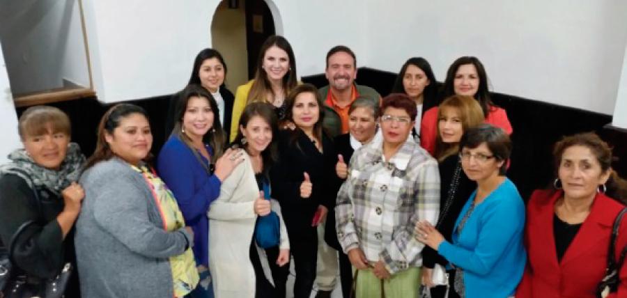 Frente de Mujeres de Tungurahua se suma al fortalecimiento de CREO