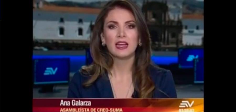 Galarza: la presidente de la Comisión de Fiscalización se ha convertido en la abogada de Glas