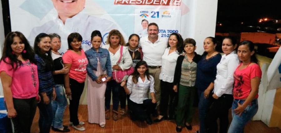 Directiva de Mujeres CREO en Sucumbíos continúan con el trabajo territorial