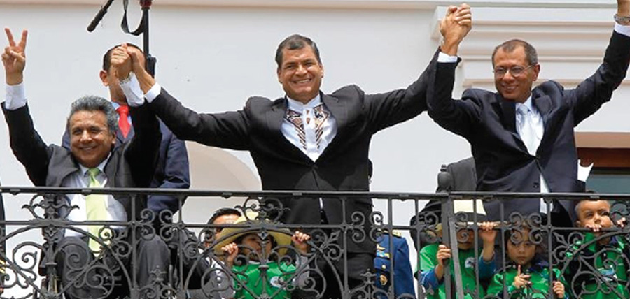 Frente al escándalo de corrupción correísta, Moreno premia a Glas entregándole 10 sectores