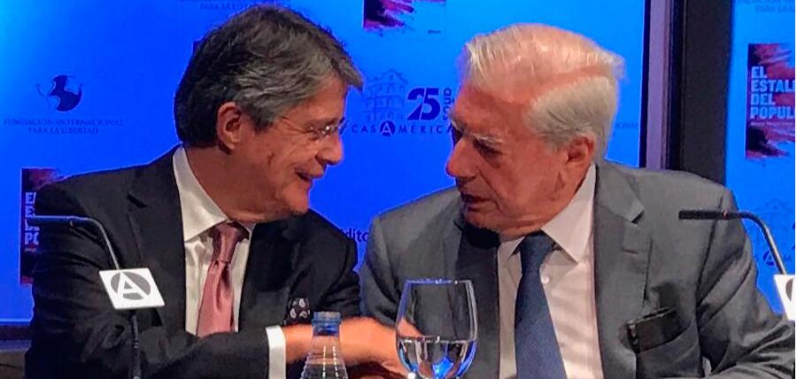 Lasso se reúne con Vargas Llosa en el X Foro Atlántico en Madrid
