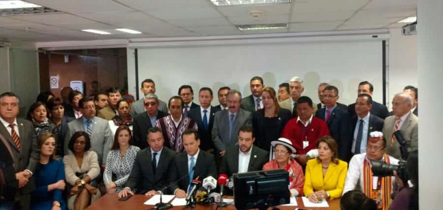 Asambleístas de oposición anuncian nuevas acciones en contra de Jorge Glas.