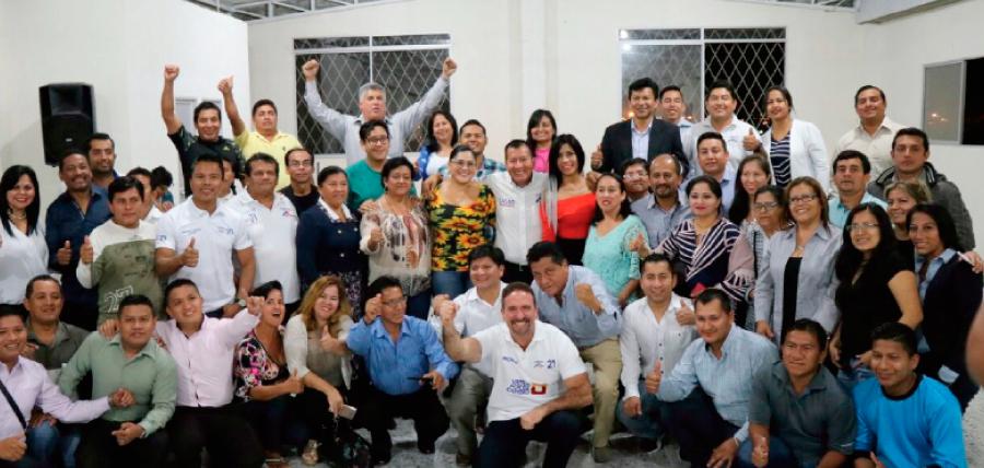 CREO posesiona a las directivas cantonales de Santa Elena, junto a los frentes de Jóvenes y Profesionales CREO