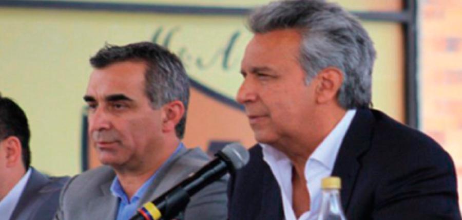 Lenín Moreno sale a la defensa de la cabeza del Consejo de la Judicatura del correísmo