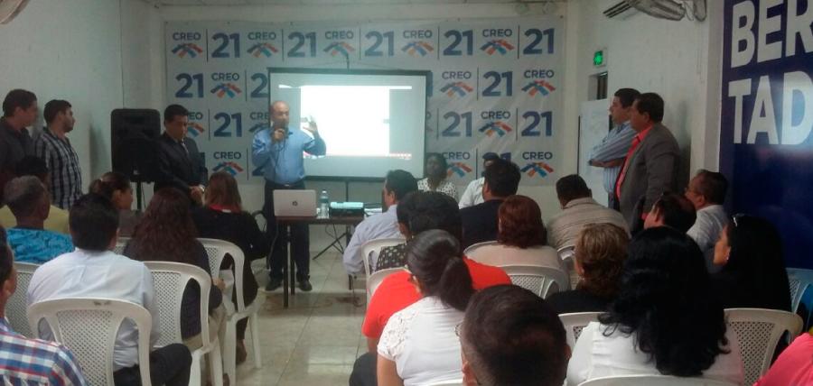 Directiva de  CREO Guayas presentó proyecto de Escuela de Formación Política
