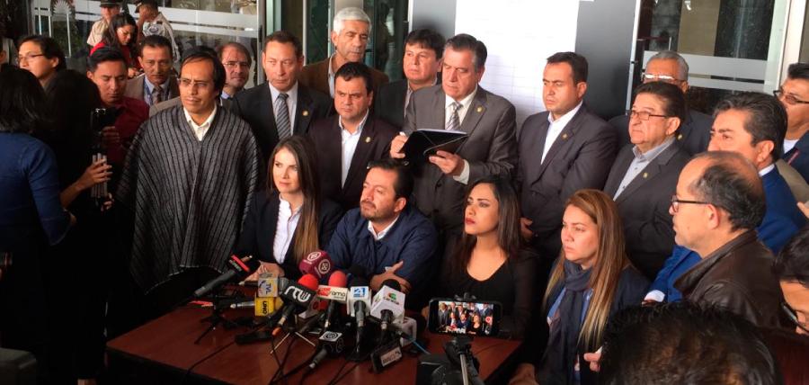 Bloque legislativo de CREO retoma el proceso de juicio político contra Jorge Glas