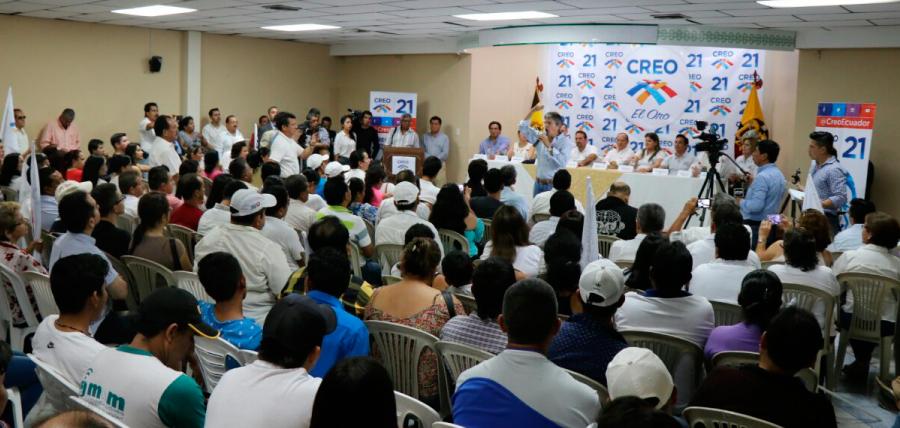 Lasso llega a El Oro para fortalecer a CREO y posesionar las directivas territoriales