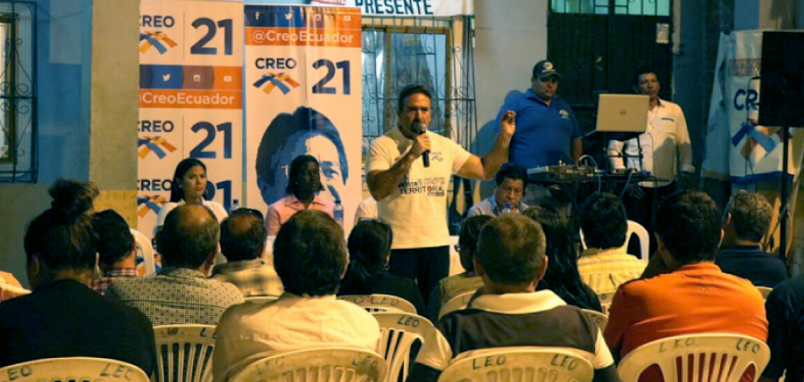 CREO fortalece su estructura cantonal en Santa Lucía