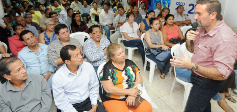 CREO prepara su próximo recorrido de fortalecimiento territorial para Azuay,  Bolívar y Guayas