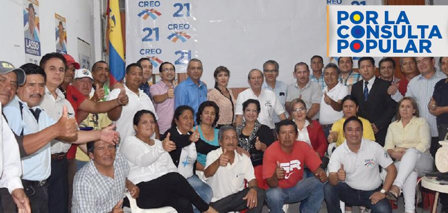 En El Oro CREO se moviliza y capacita a la ciudadanía frente a la Consulta Popular