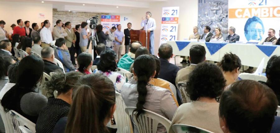 En Loja Lasso continúa con la gira nacional de fortalecimiento territorial de CREO