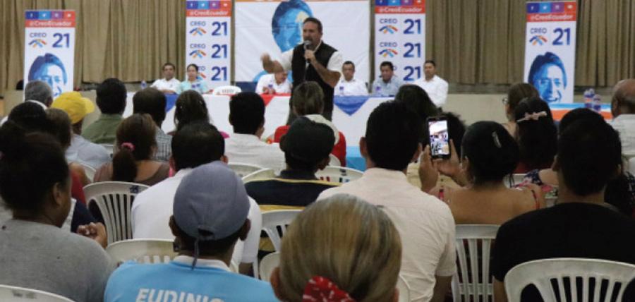 CREO continúa su fortalecimiento territorial visitando la provincia de Bolívar