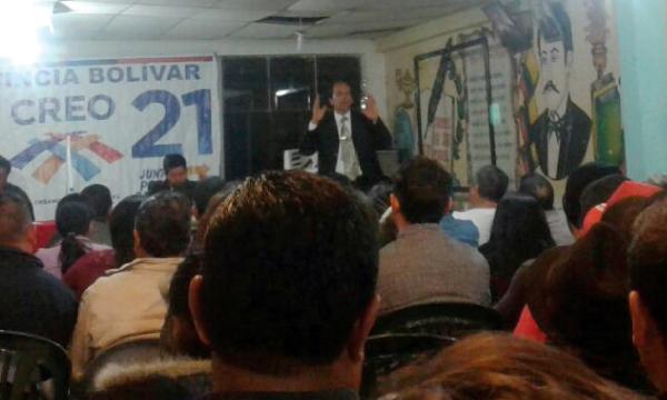 CREO continúa su fortalecimiento cantonal territorial desde San Miguel de Bolívar