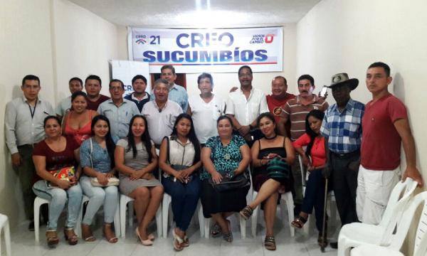 En Sucumbíos el trabajo de la directiva provincial se intensifica semana a semana.