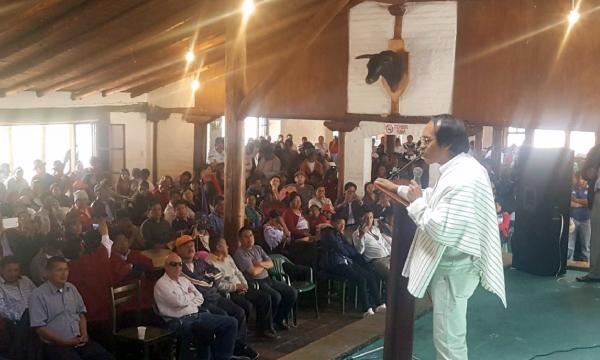 Amauta Yuyay y CREO ratifican su trabajo conjunto en Chimborazo con miras a la Consulta Popular