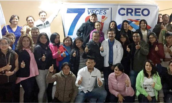 CREO posesiona su Directiva Cantonal en Chambo para fortalecer su difusión territorial por la Consulta Popular