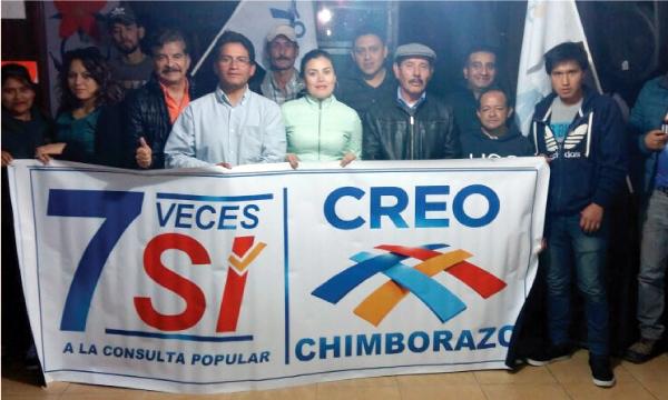 Desde Chimborazo CREO Alausí continúa el trabajo territorial de apoyo a la Consulta Popular