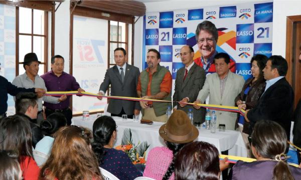 CREO Cotopaxi inaugura nueva base de operaciones en el centro de Latacunga con miras a la Consulta Popular
