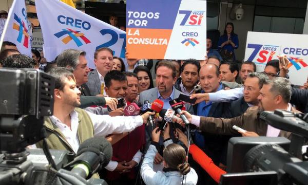 CREO ratifica su compromiso con la Consulta Popular y se inscribe como sujeto político para la campaña