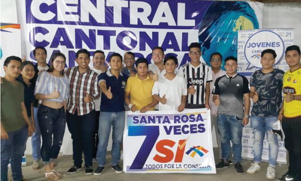 Directiva de Jóvenes CREO en Santa Rosa continúan el trabajo en El Oro por la Consulta Popular