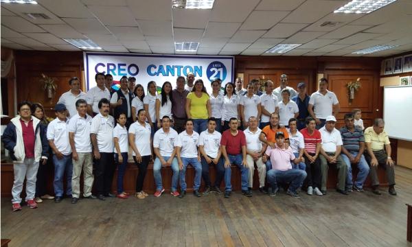 En Piñas CREO posesiona a sus nuevas directivas parroquiales para fortalecer su estructura en El Oro