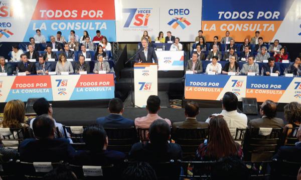 CREO se inscribe en el CNE como sujeto político para impulsar la campaña 7 Veces Sí