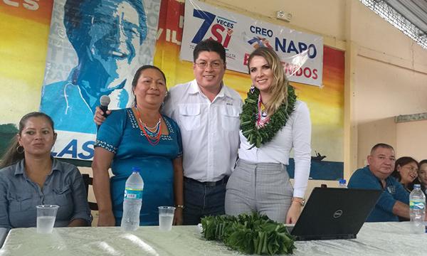 En Napo el Movimiento CREO continúa con su acción ciudadana de apoyo a la Consulta Popular