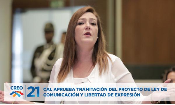 CAL aprueba tramitación del proyecto de Ley de Comunicación y Libertad de Expresión presentado por Lourdes Cuesta.