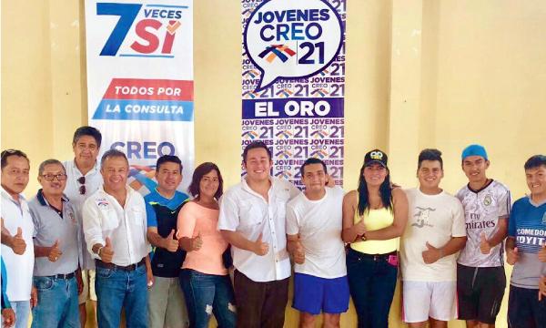 En Chilca y Torata CREO difunde la información sobre las preguntas de la Consulta Popular
