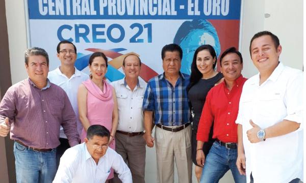 CREO inaugura central en El Oro y trabaja en campaña por la Consulta