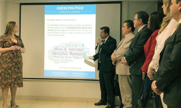 CREO anuncia inicio de Juicio Político contra Superintendente de Comunicación Carlos Ochoa