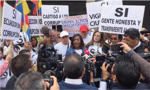 Asambleísta de CREO barre la corrupción en el Consejo de Participación Ciudadana