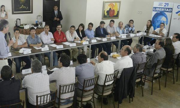 Lasso se reúne con los presidentes provinciales de CREO para analizar la ruta del 2018-19
