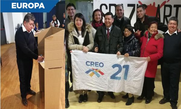 CREO Europa cumplió su jornada electoral interna para definir y renovar sus directivas territoriales