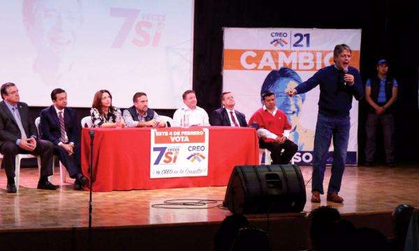 Desde Quito CREO Cerró campaña por la Consulta Popular