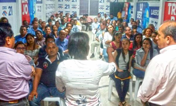 En Guayaquil el Movimiento CREO continúa su trabajo territorial para las elecciones seccionales