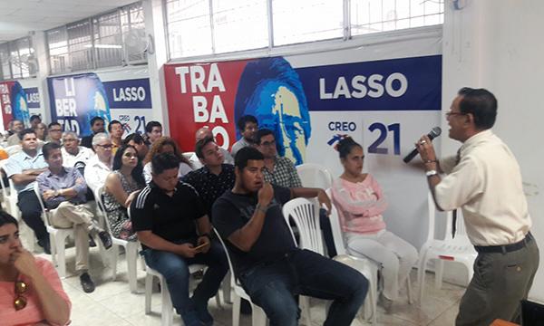 CREO  Guayaquil capacita a sus líderes y planifica trabajo territorial