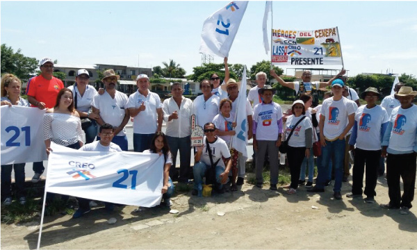Desde la Parroquia Laurel CREO Daule continúa con su trabajo territorial para fortalecer Guayas