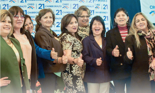 Mujeres CREO en Chimborazo consolidan su directiva y aportan al fortalecimiento territorial