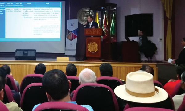 Carrión presentó su rendición de cuentas en la provincia de Cotopaxi