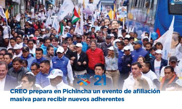 CREO prepara en Pichincha un evento de afiliación masiva para recibir nuevos adherentes