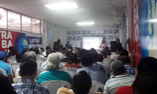 CREO Guayaquil planifica con su militancia el trabajo para el 2019