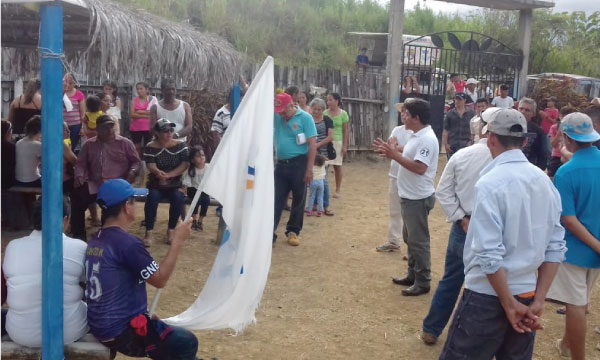 CREO Guayas recorre los recintos de Colimes dentro de su proceso de fortalecimiento territorial
