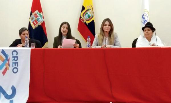 Desde Latacunga continúa la capacitación en CREO sobre el rol de la mujer en la vida política nacional